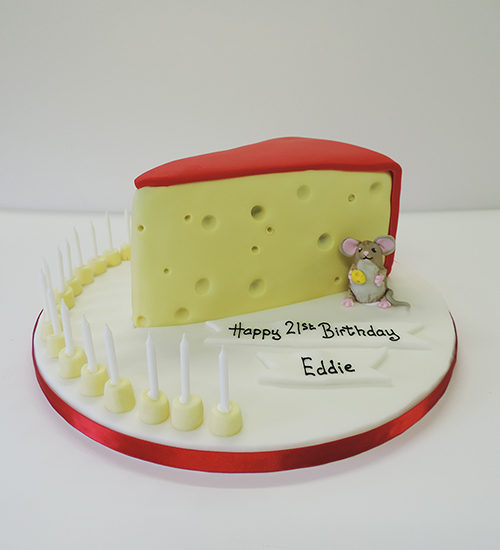 Food themed celebration cake