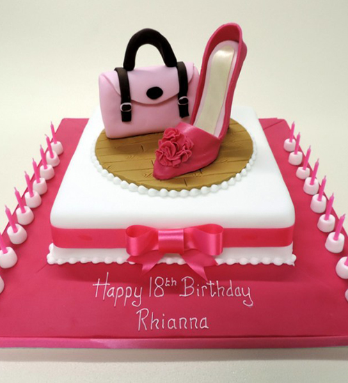 Shoe themed celebration cake