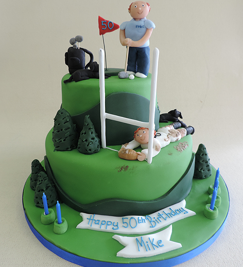 Sport themed celebration cake